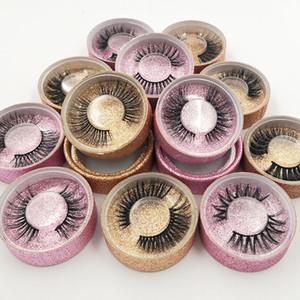 3D Nerz Wimpern Private Label 3D Nerz Wimpern Handmade False Eyelash Crossing Wimpern einzelnen Streifen Wimpernverlängerung mit Glitter