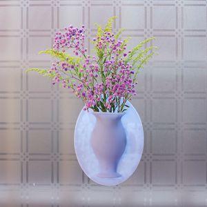 مصغرة مزهرية ورود الثلاجة ملصقا DIY هلام السيليكا زهرية ثلاجة ملصق زهرة وعاء الشكل DW100
