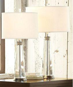 Nordic crystal decorative table lamp bedroom bedside creative fabric desk lamp living room study fashion hotel room lights LR001