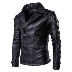 브랜드의 새로운 오토바이 남성 PU 가죽 재킷 PU 캐주얼 옷깃 목 슬림 맞춤 Lether Inverno Couro이 남성 칼라 재킷 5XL J1811174 스탠드