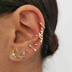 2020 New Boho Vintage Geometric Gold Drop Earrings For Women Star Snake Olive Leaf Earring Set Female Jewelry Wedding Party Gift