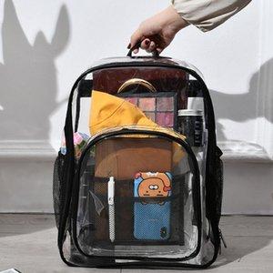 Kid Temizle Şeffaf Tasarımcı Okul Çantası Çocuk Sırt Çantası Schoolbag İçin Kız Erkek Çocuk Genç Bebek Kadın Big Geri Paketi Anaokulu