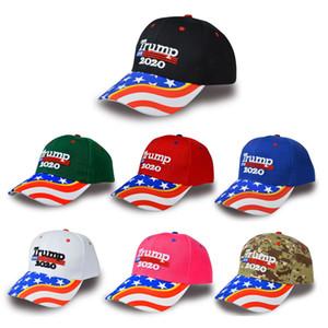 Broderie Donald Trump 2020 Cap Camouflage Baseball personnalisés Trump États-Unis élection présidentielle Baseball Hat pour hommes, femmes en gros
