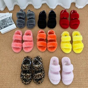 Fashion Luxury Designer Women Sandals Fur Slides OH Yeah Slippers Women Furry Slippers Australia Fluff Yeah Slide casual Shoes WITHER Boots