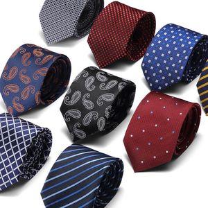 Spot Mens Tie 7.5cm Korean-Style Polyester Yarn Striped Groups Tie Black Narrow Tie