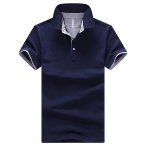 Mens Lapel Neck Polos Shirt Simple Short Sleeve Slim Fit Summer Clothes Male Designer Polos