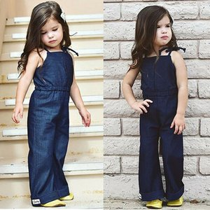États-Unis du nouveau-né Kid Baby Girl Denim Salopette Bracelet Romper Jumpsuit Outfit Vêtements Set