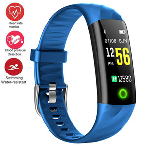 Nuevo Smart Wristband Pantalla a color Actividad rastreador Reloj pulsera Monitor de ritmo cardíaco IP68 Banda Smart Fitbit impermeable para IOS Android