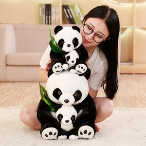 1pc Cute Plush Mother and Baby Panda Plush Toys Stuffed Animals Plush Panda with Bamboo leaf Doll Toys for Kids Girls Baby Gifts