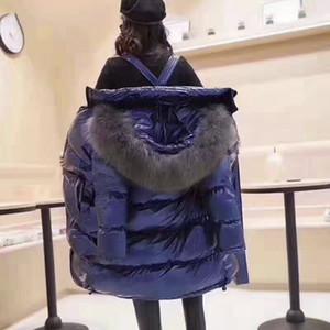 Designer Women's Down Winter Parkas Streetwear Long Parkas Jacket Women Down & Parkas Coat Thick Lady Jacket Bright Leather Coat