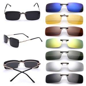 Vente en gros-Men Day femmes polarisants Night Vision Clip Glasses Objectif Lunettes de soleil mode
