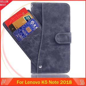 8 Colors For Lenovo K5 Note 2018 Phone Case Wallet Leather Dedicated Business Leather Protective Cover Cases Bags