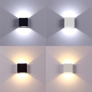 Aluminio 6W la lámpara de pared LED Home Iluminación de interior regulable arriba abajo de la escalera Corredor Dormitorio Noche de luz en interiores luces de la decoración