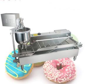 الدونات الكهربائية صانع الأجهزة التجاري آلة دونات التلقائي صب دونات الإنتاج 220V / 110V 3 قوالب