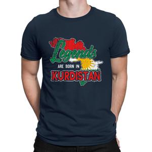 Erkekler Tee için Legend Kürdistan Milleti Kürt Bayrağı Tişörtlü Yaratıcı Yuvarlak Yaka Grafik Tee gömlek Casual Pictures Pamuk Tee Tops
