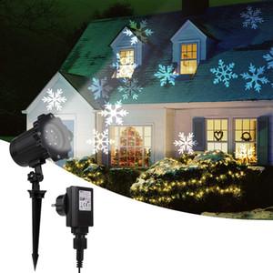 Focos Projeto impermeável Movendo Projector Paisagem Snowflake Lamp LED Outdoor Para Xmas Lawn lâmpadas decorativas Daylight Luz Branca
