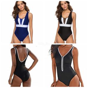 Kadınlar One Piece Mayo Backless Yüksek Bandaj Seksi Brezilyalı Mayo Swiming monokini Bikini L-JJA2460 Wear bekledi çizgili