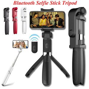 아이폰에 대한 원격 제어와 3 IN1 360도 회전 블루투스 셀카 스틱 삼각대 모노 포드가 iOS 안드로이드 전화