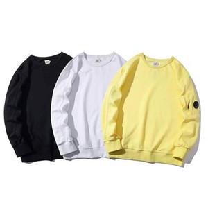 Hip-hop pullover in pile vestiti caldi giallo bianco Cp felpa nera chic slogan pug germogli New York cane di stampa hoodie formato asiatico