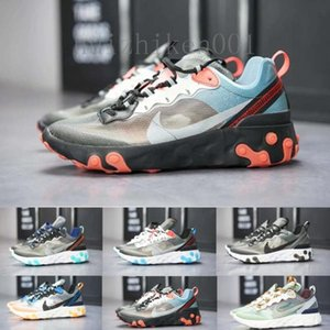 2019 React Element 87 Volt 55 Game Royal Taped Seams Running Shoes For Women men 55s Blue Chill Trainer 87s Sail Sports Sneakers RR622