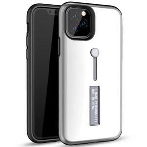 Finger Holder ibrida Armatura caso Defender Kickstand per l'iPhone 11 Pro Max XS XR X 8 7 6 6S Inoltre Samsung Galaxy S10 E Nota 9 A10 A50 A70