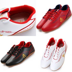 Tai Chi Sneakers Free Flexible Martial Arts Wushu Shoes Sports Training Footwear Black Red And White Size 34-46