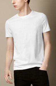 Londres Brit las camisetas de los nuevos hombres del algodón de la manera de Inglaterra de ocio de la camiseta de la manga corta ocasional sólida Camisa de polo clásico de verano tes de las tapas