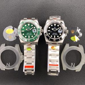 116610 N V10 Relógios 3135 Movimento 904L Relógios safira com Caixa