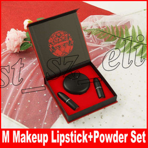 Neues Neujahr Makeup Set Matte Lipstick + Face Studio Powder 3 in 1 Set mit Geschenkbox