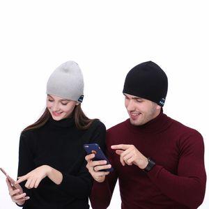 La música de Bluetooth Beanie sombrero creativo Smart Wireless Headset Cap altavoz manos libres Micrófono Música Gorro de lana