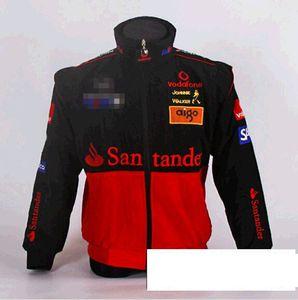 wholesale 2020 F1 racing suit retro wind cotton suit college wind jacket winter coat cotton spot A019 full 3D embroidery