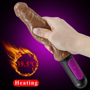 10 Modes Flexible Chauffage Godes Vibrator pour les femmes G-spot vaginal Stimulateur Feeling peau Godes Vibrator Adult Sex Toy pour les femmes