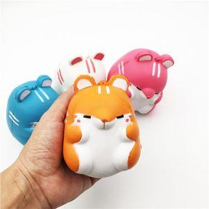 20PCS Besegad bonito de Kawaii macio mole colorido Simulação Hamster Toy lenta ascensão para alivia o estresse Ansiedade Decoração