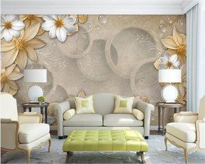 нестандартного размер 3d фото обоев гостиной спальня настенных марочные крафт-бумага цветок картина диван ТВ фон обои нетканого стикер стены