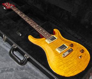 Пользовательского старинной желтого гитара Amber Brown Top Flame Maple DGT Дэвид Грисс ЮБИЛЕЙ гитара 22 Reed Smith Electric EDITION