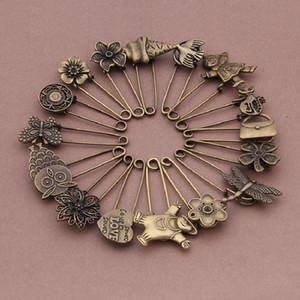 Broche de Bronze retro Diy animal liga broche acessórios de moda pin planta festa de bronze retro acessórios de jóias