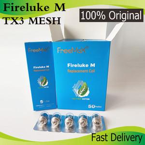 Authentic Freemax TX Malha Bobina Fireluke M Tea Fibra de Algodão TX1 TX2 TX3 TX4 TNX2 Núcleo de Freemax Fireluke 2 Tanque Twister 80W Kit