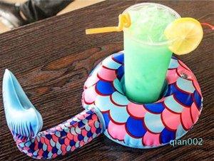 حورية البحر مقعد كوب ذيل الوردي كراب كأس كولا الإبداعي لطيف الشاطئ الصيف حامل الكأس نفخ الشراب