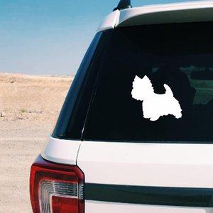 Inicio Jardín lindo de Westie de la silueta de la etiqueta Cutom perro Nombre de vinilo etiqueta, personalizada animal doméstico del perro de Westie Arte etiquetas del coche de la ventana del ordenador portátil de la decoración