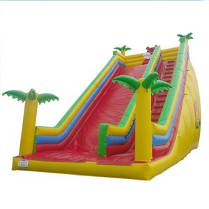Big Inflatable Jungle Slide for Sale Commercial Grade Jungle Inflatable Dry Slide Outdoor Games for Children The Lion King Dry Slide PVC