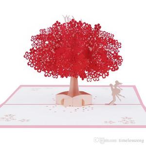 Элегантный сакуры открытка 2 дизайн ручной работы 3D приглашения Pop UP открытка романтичная сакура открытки свадьба открытки для влюбленных друзей