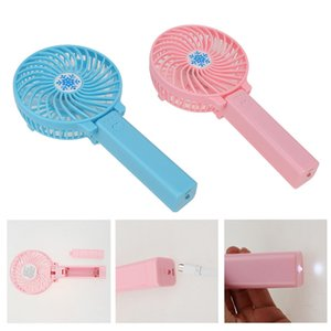Sports & Outdoors Mini Portable Outdoor Electric Fans Handheld Foldable Fan With LED Lights Wireless USB with Battery Rechargeable