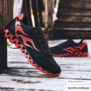Rugoso verano patín de las zapatillas de deporte de los hombres zapatos de lona ocasionales 30% Fuego Zapatos de la impresión trampolín Denim Calzado masculino plana Plimsolls