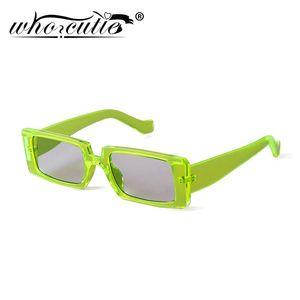 OMS 2020 CUTIE verde del marco de las gafas de sol rectángulo rectangular de mujer de marca Diseño de la moda del 90 Amplia Gafas de sol Mujer S186
