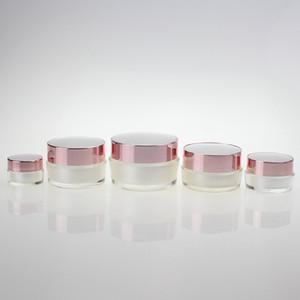 Rose Gold Cap, 5ml Kozmetik Numune Kavanoz Mini Kapasite 5g İnci Beyaz Krem Kavanoz