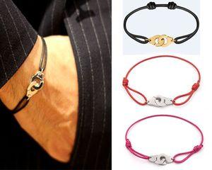 Bijoux argent 925 Menottes Dinh Van Bracelet pour les femmes avec corde Bracelet en argent 925 Pendentif