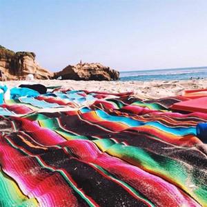 Cotton Mexican Handmade National Wind Beach Blanket Regenbogen Decke Startseite Tapestry-Strand-Matte Picknick-Matte