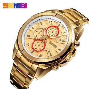 SKMEI NEW Business Men Quartz Watches Alloy Strap Large Dial Watch Waterproof Wirstwatch Relogio Masculino 1378 erkek kol saati