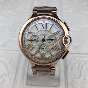 luxo de três fusos horários à prova de água de relógios dos homens relógios casuais dominar nível superior de design dos homens da qualidade militar Relógios Negócios Assista Relogio