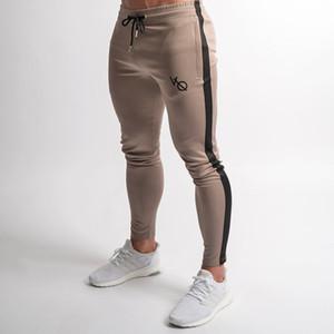 Outono Inverno Estilo Mens Marca Sweatpants Basculador Man Academias de Treino de Fitness Calças de Algodão Masculino Moda Casual Skinny Calças de Trilha